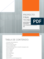 Proyecto Final Tecnologia