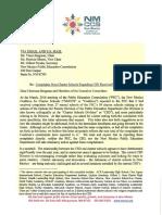 NMCCS Charter School Complaint Letter