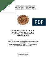 1- Tesis - María Concepción Rosado Martín - Las Mujeres de La Nobilitas Romana (44-30 a.c.)