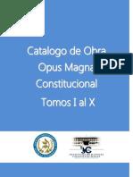 Catalogo Opus Magna Constitucional