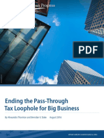 Ending the Pass-Through Tax Loophole for Big Business