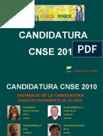 Programa de la Candidatura CNSE 2010