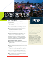 Social Enterprise World Forum 2017 flyer