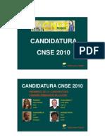 Programa de la Candidatura CNSE 2010 - PDF