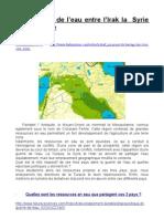 guerre de l'eau irak iran turquie