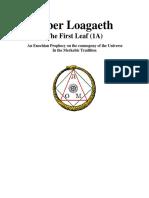 Liber Loagaeth - The First Leaf (1A)