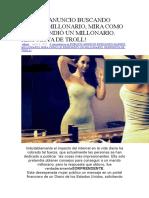 Publicó Anuncio Buscando Marido Millonario