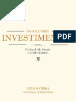 Os15maioresinvestimentosdoBrasiledoMundoCOMENTADOS