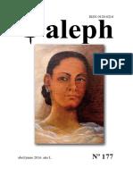 Aleph No. 177. Abril - Junio 2016