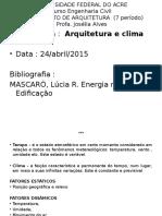 Arquitetura e Clima1