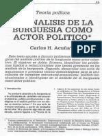 ACUÑA, Carlos - Análisis de La Burguesía Como Actor Político