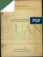 La educación personalista según  Teilhard de Chardin- Ismael quiles s.j.