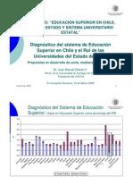Diagnóstico del sistema de Educación Superior en Chile y el Rol de las Universidades del Estado de Chile