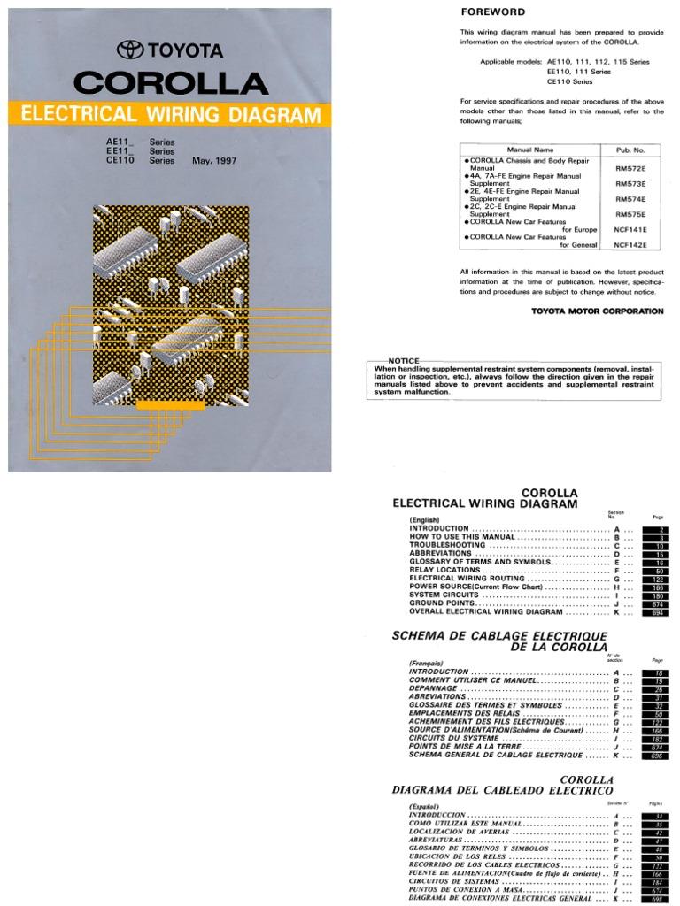 Corolla 1997 Electrical Wiring Diagram