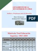 Financiamiento de la Educación Superior en Chile Fundación Terram