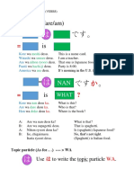 Japanese Basic Verb Grammar Summary