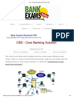 CBS - Core Banking Solution _ Bank Exams Today