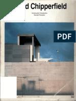 David Chipperfield. Catálogos Arquitectura Contemporánea