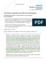 Multisensory Integration and Child Neurodevelopment