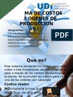 Odenes de Produccion