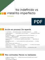 Pretérito Indefinido vs Pretérito Imperfecto