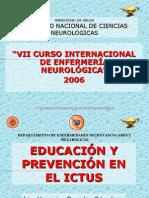 EDUCACION Y PREVENCION EN EL ICTUS-INTERNACIONAL