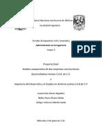Administracion en la ingenieria civil