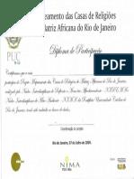 Diploma Da PUC Rio de Janeiro