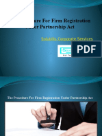 The Procedure for Firm Registration Under Partnership Act