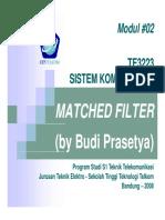 Siskom2 Matched Filter