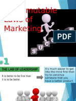 Marketing - 22 immutables laws of Marketing