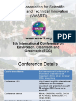 6th International Conference on Envirotech, Cleantech and Greentech (ECG)