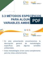 metodos para variables ambientales