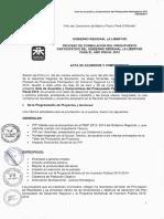 Acta de Acuerdos y Compromisos Pp 2012