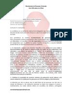 Carta a Embajador de Peru en Misión Permanente de Naciones Unidas