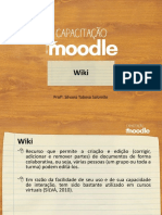 Capacitacao Moodle Wiki