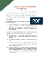 Remuneraciones 5TA CATEGORIA