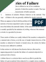 Theories of Failure Scet