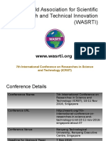 7th International Conference on Researches in Science and Technology (ICRST)