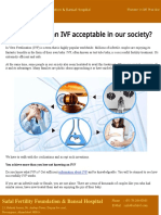 How much is an IVF acceptable in our society?