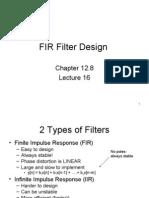 Lecture 16 FIR Design