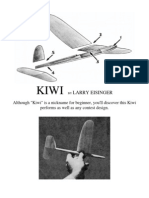 Kiwi - A Free-Flight Model Airplane (Glider)