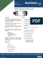 BlueOptics BO01C13240 1000BASE-LH GBIC Transceiver 1310nm 40 Kilometer Singlemode SC-Duplex 1 Gigabit