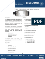 BlueOptics BO12CXX240 1000BASE-CWDM GBIC Transceiver 1271nm-1611nm 40 Kilometer Singlemode SC-Duplex 1 Gigabit