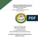gain and radiation of antenna using AMC