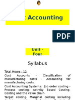 MBA - AFM - Cost Accounting
