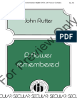 A Flower Remembered - Rutter