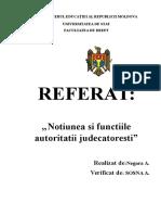 Notiunea si functiile autoritatii judecatoresti.docx