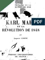 Auguste Cornu Karl Marx Et La Revolution de 1848