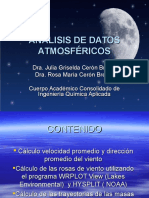 Curso de Análisis de Datos Meteorológicos